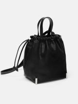 ZARA. GENUINE GATHERED TOP  BUCKET BAG BNWT BLACK - $27.39