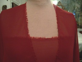5yd BURGUNDY RED WASHABLE MICROFIBER CHIFFON FABRIC SHEER - $40.00