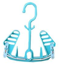 Panda Superstore Multi-Function Shoes and Socks Hangers Blue Set of 2