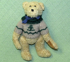"VINTAGE 11"" BOYDS CHRISTMAS TEDDY BEAR WITH EVERGREEN TREE SWEATER JOINT... - $14.85"