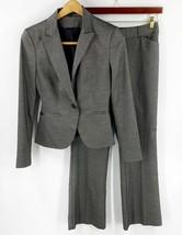 Express Womens Pant Suit Size 4 Gray Silver Blazer Jacket & Editor Pants... - $54.45
