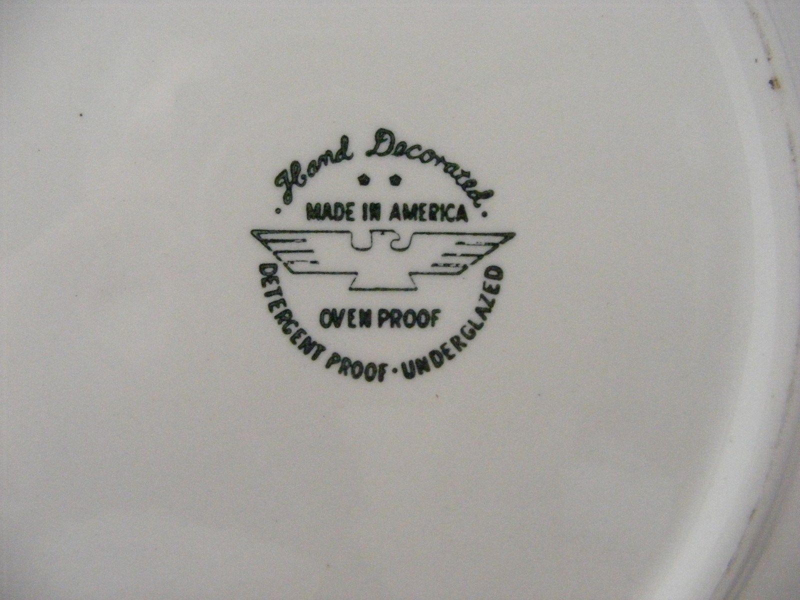 """Marcrest Stetson Gay Nineties 11.25"""" Handled Cake Plate Black Yellow White"""