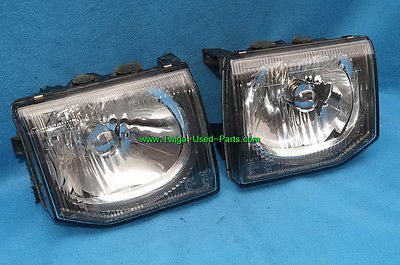 92-96 Mitsubishi Montero JDM Glass Headlights Head Light Lights Set 97 UPGRADE