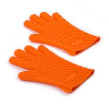 Tasom Silicone BBQ Grill Oven Mitts Gloves 5 Fingers Glove for Cooking Baking Po - $12.99