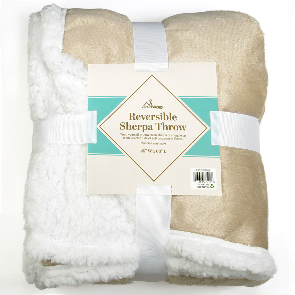 Case of [10] TrailWorthy Sherpa Blanket - Tan