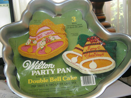 Wilton Cake Pan Christmas Double Bell Cake Pan 2105-1537, 1979 - $14.89
