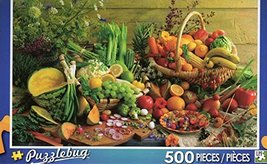 Fresh Fruits and Vegetables - Puzzlebug - 500 Pc Jigsaw Puzzle - NEW - $17.98