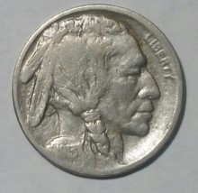 1913D Type II Buffalo Nickel 5¢ Coin Lot # MZ 4717