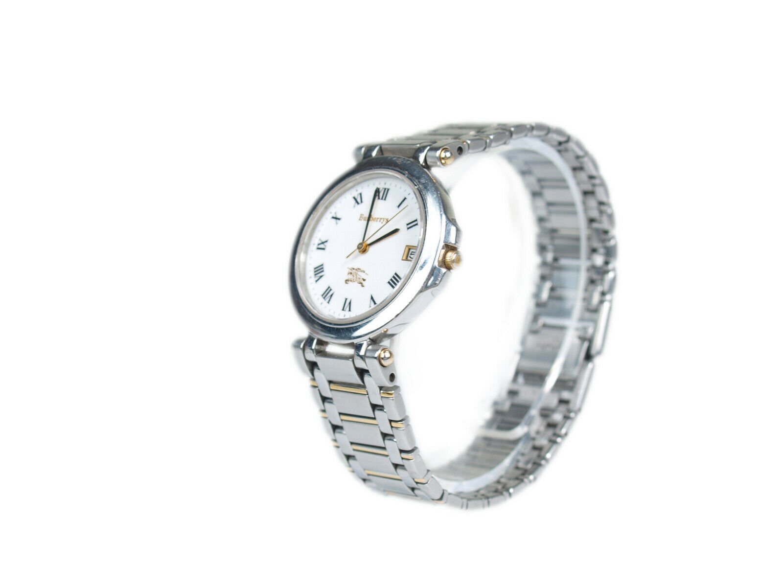 Authentic BURBERRYS White Dial Stainless Steel Women's Quartz Watch BW17927L