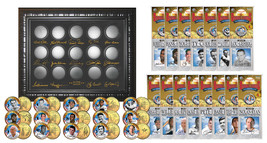 BASEBALL LEGENDS 15-Coin Set 24K Gold Plated State Quarters w/Display SU... - $29.65