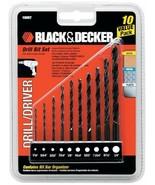 Black & Decker 15557C 10 Piece Drill Bit Set - $3.47
