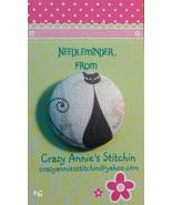 Crazy Cat #6 Needleminder fabric cross stitch n... - $7.00