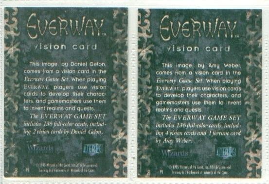 2 EVERWAY CCG cards DANIEL GELON / AMY WEBER
