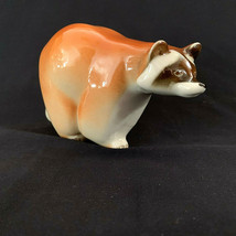 Vintge Lomonosov Russia Porcelain Raccoon Figurine Red Mark - $37.62