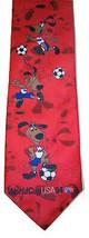 Striker World Cup Pup Dog USA 1994 Soccer Red Tie 94 Mens Necktie Ralph Marlin - $9.89