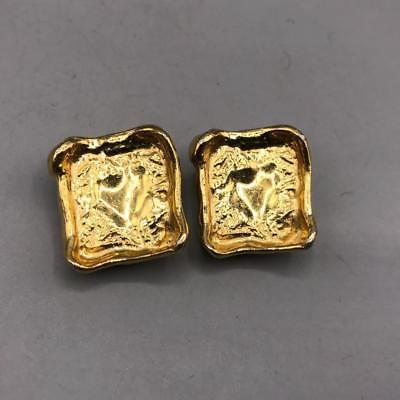 Vintage Ciner Signed Gold Tone Clip on Earrings