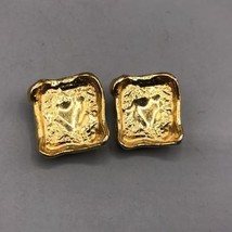 Vintage Ciner Signed Gold Tone Clip on Earrings - $59.39