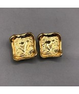 Vintage Ciner Signed Gold Tone Clip on Earrings - $59.39