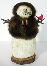 """Unique Christmas Snowman Woman Wearing Fur Hat And Coat 9"""" Tall - $25.00"""