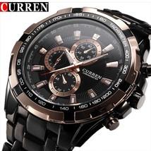 Fashion Curren Luxury Brand Man quartz full stainless steel Watch Casual Militar - $24.94