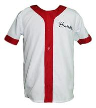Homer Simpson Springfield Baseball Jersey Button Down White Any Size image 3