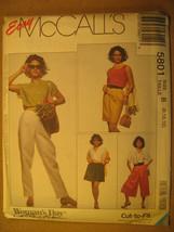 UNCUT Pattern 1991 EASY McCall SIZE 8 10 12 14 16 18 SPLIT-SKIRT Pant 58... - $4.80