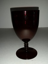 Vintage Anchor Hocking Monarch Royal Ruby Ball Stem Water Goblet - $6.99