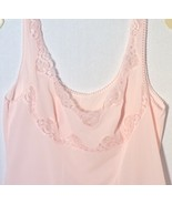 Nightgown or Slip Pink Lace Trim Slinky Feel Size Small? Vintage 1950 - ... - $12.82