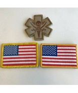 AMERICAN FLAG Hook & Loop Fastener PATCH Lot - $6.00