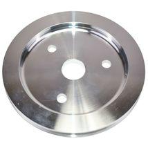 Chevy Small Block Short Water Pump Single-Groove Aluminum Crankshaft Pulley image 3