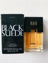 Avon Black Suede 3.4oz Men's Cologne Spray Vintage - $23.99
