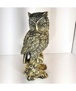 """12 1/2"""" Large Owl Statue Carved Sculpture Figurine Art Home Decor Wise Heavy - $89.95"""