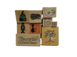 Halloween Stamps - NEW - Set of 9 Different Stamps