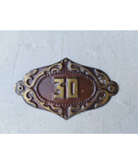 Home Number Sign #30 Personalized brass House Address Number Plaque Numb... - $17.00