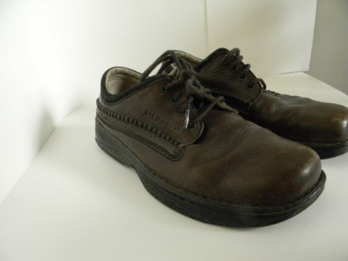 Mens Merrell Air Cushion World Passport Brown Leather Shoes Size 10