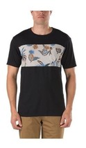 VANS CASTAWAY POCKET TEE T SHIRT TOP MENS M OFF THE WALL BLACK PINEAPPLE... - $18.65