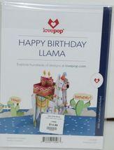 Lovepop LP2598 Happy Birthday Llama Pop Up Card White Envelope Cellophane wrap image 6