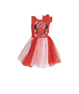 Girls L 10/12 Disney Minnie Mouse Bow Sleeveless Mesh overlay Dress Red ... - $14.84