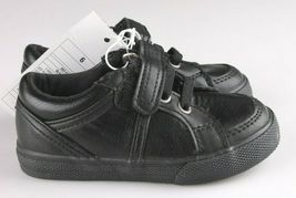 Cat & Jack Toddler Boys' Huxley Black Faux Leather Sneaker Shoes 6 US NWT image 5