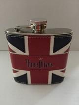 Three Olives Vodka Union Jack flask. Very nice!!! New Stainless Steel - $15.47