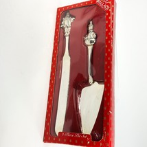 Wallace Silversmith's Silver-plated Pie Set Snowman Server & Santa Knife... - €20,36 EUR