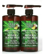 2 Bottles Dead Sea Collection 16.9 Oz Coconut Lime Refreshing Mineral Ha... - $17.99