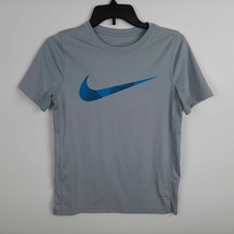Nike Dri-fit Boys T-shirt Size Large Gray Vented Pits SP13 - $12.86