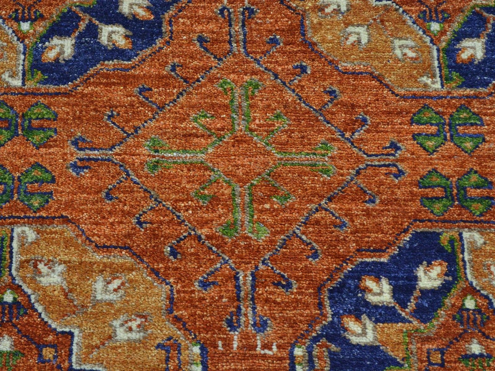 "4'1""x12'7"" Afghan Ersari Handmade Elephant Feet Wide Runner Oriental Rug G28191"