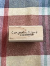 """Stampin Up """"Congratulations"""" Rubber Stamp 2002 - $7.70"""