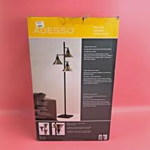 Adesso Adjustable Metal Shades Floor Lamp w/ Antique Bronze Finish #broz... - $52.91