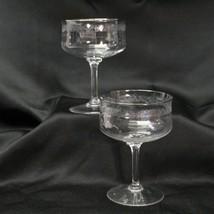 "Lenox Moonspun Champagne Sherbet Goblets 5"" Tall Lot of 2 Silver Rim - $25.47"