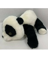 Russ Berrie Vintage Pubby Panda Bear Plush lying down teddy black white ... - $29.69