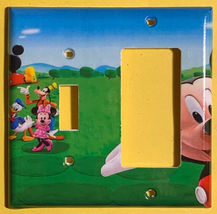 Mickey Mouse House Club Light Switch Duplex Outlet wall Cover Plate Home decor image 10