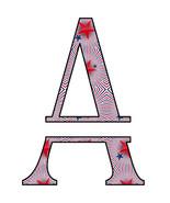 ABC Set2 Split Letter Monogram-Digital ClipArt-SVG-JPG-Stars-The 4th of ... - $10.00